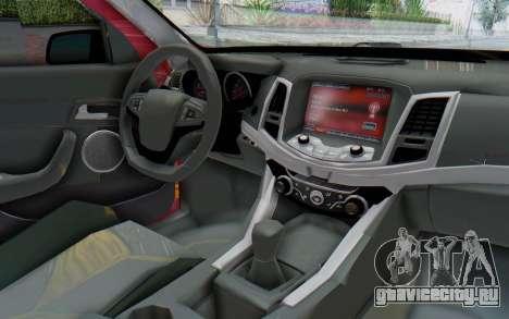 Chevrolet Super Sport 2014 для GTA San Andreas вид изнутри