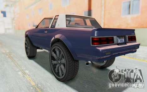 GTA 5 Willard Faction Custom Donk v3 IVF для GTA San Andreas вид слева
