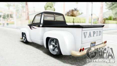 GTA 5 Vapid Slamvan without Hydro IVF для GTA San Andreas салон