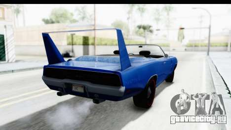 Dodge Charger Daytona 1969 Cabrio для GTA San Andreas вид слева