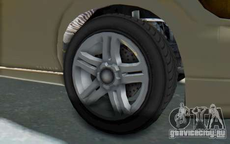 GTA 5 Vapid Minivan IVF для GTA San Andreas вид сзади