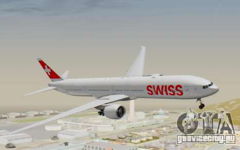 Boeing 777-300ER Swiss Global Air Lines для GTA San Andreas вид сзади слева