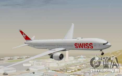 Boeing 777-300ER Swiss Global Air Lines для GTA San Andreas вид сзади слева