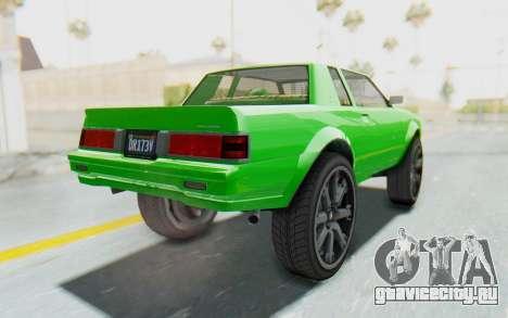 GTA 5 Willard Faction Custom Donk v3 для GTA San Andreas вид справа