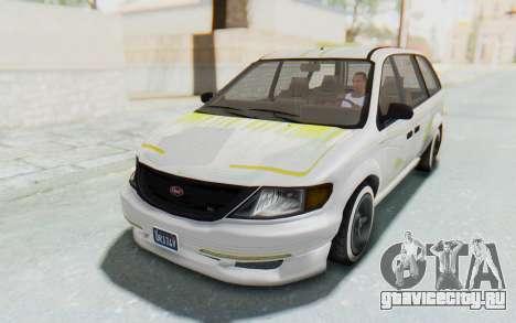 GTA 5 Vapid Minivan Custom without Hydro для GTA San Andreas вид снизу