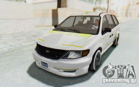 GTA 5 Vapid Minivan Custom для GTA San Andreas вид снизу