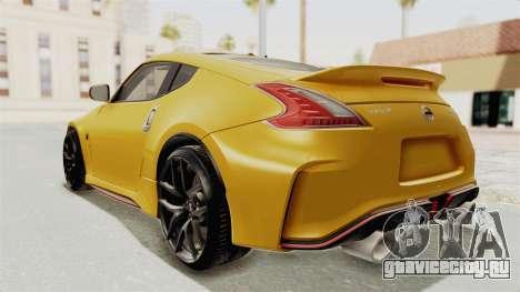 Nissan 370Z Nismo Z34 для GTA San Andreas вид слева