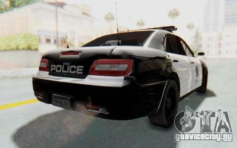 ASYM Desanne XT Pursuit v1 для GTA San Andreas вид слева