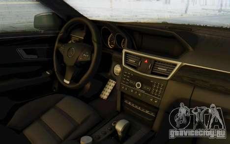 Mercedes-Benz E63 German Police Green для GTA San Andreas вид изнутри