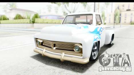 GTA 5 Vapid Slamvan without Hydro IVF для GTA San Andreas вид изнутри