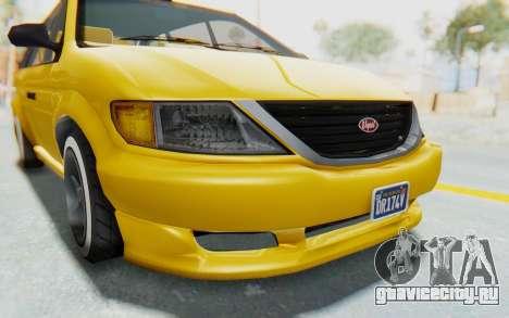 GTA 5 Vapid Minivan Custom IVF для GTA San Andreas вид сверху