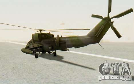 WZ-19 Attack Helicopter для GTA San Andreas вид сзади слева