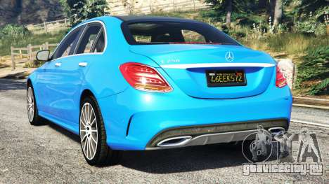 Mercedes-Benz C250 2014 для GTA 5 вид сзади слева