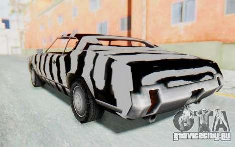 White Zebra Sabre Turbo для GTA San Andreas вид слева