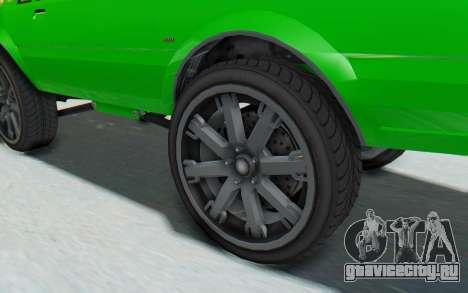 GTA 5 Willard Faction Custom Donk v3 для GTA San Andreas вид сзади