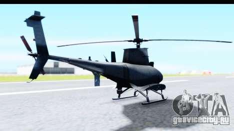 Northrop Grumman MQ-8B Fire Scout для GTA San Andreas вид справа