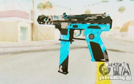 Tec-9 Neural Blue для GTA San Andreas второй скриншот