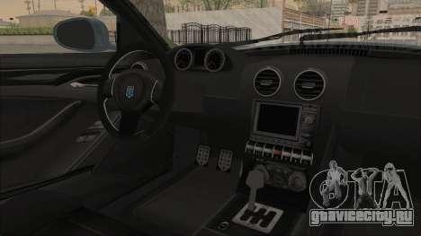 GTA 5 Grotti Bestia GTS v2 SA Lights для GTA San Andreas вид изнутри