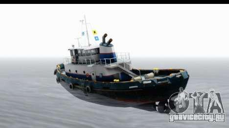 GTA 5 Buckingham Tug Boat v2 IVF для GTA San Andreas вид слева
