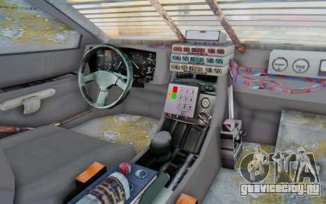 DeLorean DMC-12 2012 End Of The World для GTA San Andreas вид изнутри