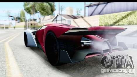 GTA 5 Grotti X80 Proto SA Lights для GTA San Andreas вид слева
