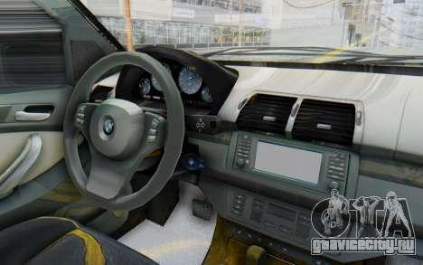 BMW X5 Pickup для GTA San Andreas вид изнутри