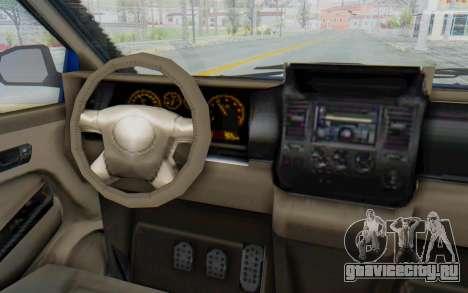 GTA 5 Vapid Minivan Custom для GTA San Andreas вид изнутри