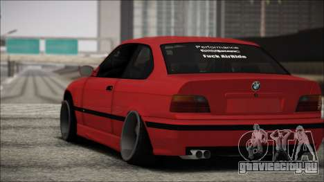 BMW E36 Stance для GTA San Andreas вид сзади