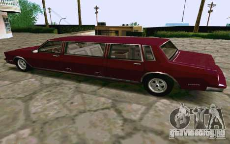 Tahoma Limousine v2.0 (HD) для GTA San Andreas вид сзади слева