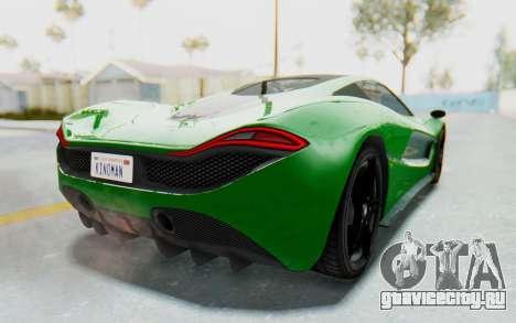 GTA 5 Progen T20 Devil PJ для GTA San Andreas вид слева
