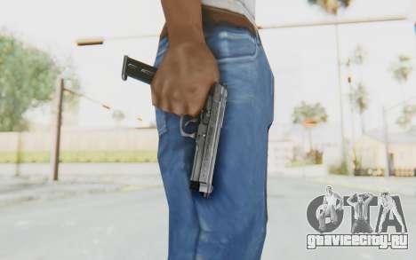Tariq Iraqi Pistol Back v1 Silver Long Ammo для GTA San Andreas третий скриншот