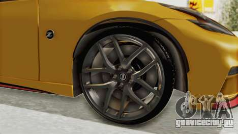 Nissan 370Z Nismo Z34 для GTA San Andreas вид сзади