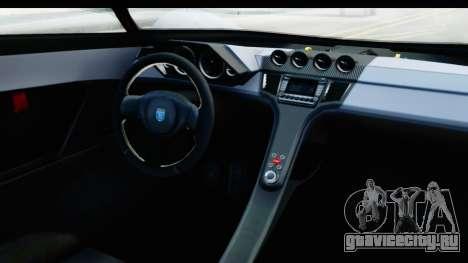 GTA 5 Grotti X80 Proto SA Lights для GTA San Andreas вид изнутри