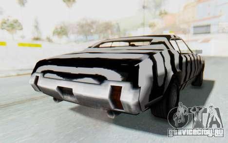 White Zebra Sabre Turbo для GTA San Andreas вид сзади слева