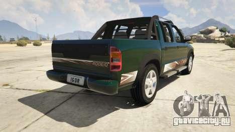 2011 Chevrolet S-10 Rodeio для GTA 5 вид сзади слева