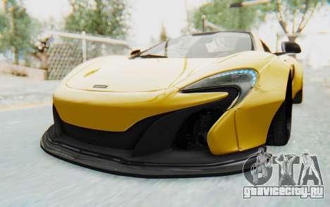 McLaren 650S Spyder ZenWorks для GTA San Andreas