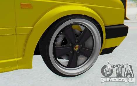 Volkswagen Golf Mk2 Lemon для GTA San Andreas вид сзади