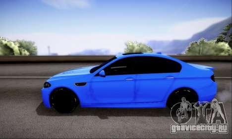 BMW M5 F10 G-Power для GTA San Andreas вид сбоку
