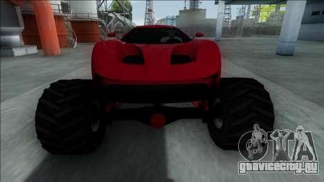 GTA V Vapid FMJ Monster Truck для GTA San Andreas вид изнутри