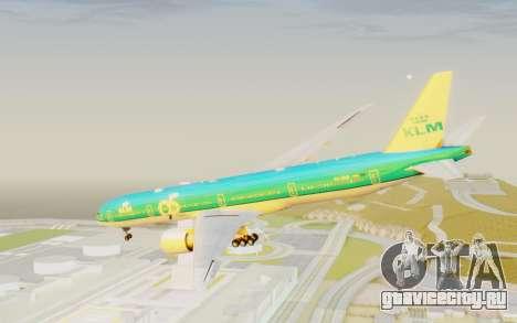 Boeing 777-300ER KLM - Royal Dutch Airlines v3 для GTA San Andreas вид справа