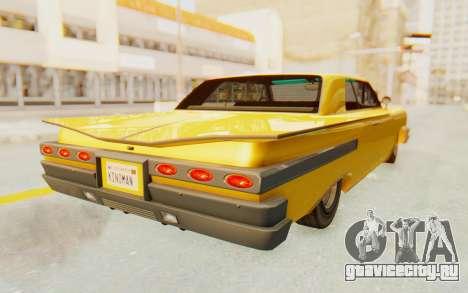 GTA 5 Declasse Voodoo PJ SA Lights для GTA San Andreas