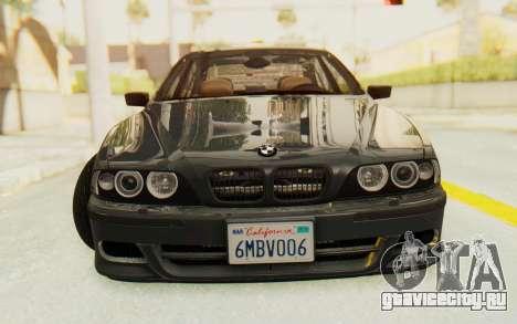 BMW M5 E39 M-Tech USDM для GTA San Andreas вид сзади