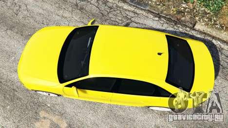 Audi A4 2009 для GTA 5 вид сзади