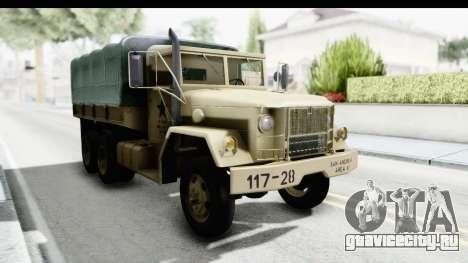 AM General M35A2 Sand для GTA San Andreas вид справа