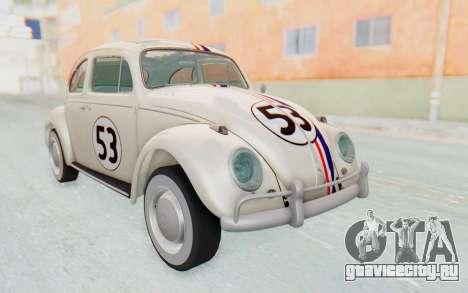 Volkswagen Beetle 1200 Type 1 1963 Herbie для GTA San Andreas