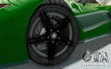 GTA 5 Progen T20 Devil PJ для GTA San Andreas вид сзади