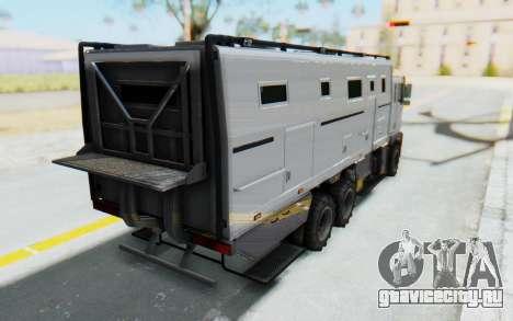 GTA 5 HVY Brickade IVF для GTA San Andreas вид слева