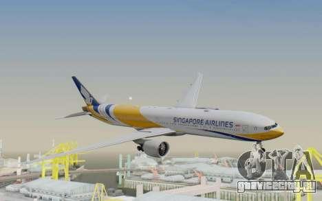 Boeing 777-300ER Singapore Airlines v2 для GTA San Andreas
