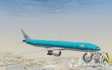 Boeing 777-300ER KLM - Royal Dutch Airlines v3 для GTA San Andreas