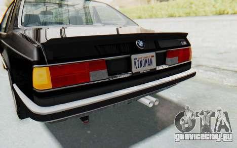 BMW M635 CSi (E24) 1984 IVF PJ3 для GTA San Andreas салон
